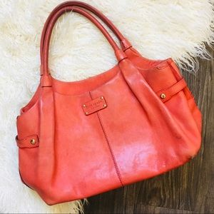Loved coral color leather Kate Spade tote